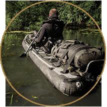 Kayaks et radeaux de franchissement