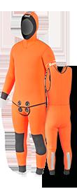 Pantalon-Gilet et vareuse orange rescue
